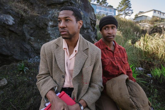 "Jonathan Majors (left) and Jimmie Fails  star in ""The Last Black Man in San Francisco."""