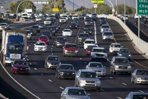 Phoenix-area freeway traffic.