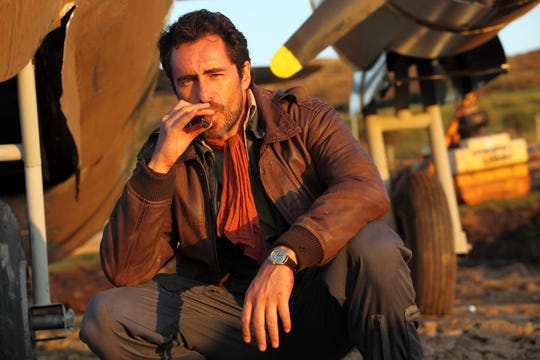 "Demián Bichir plays a stranded pilot in ""The Runway."""