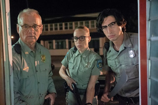 "Bill Murray (from left),  Chloë Sevigny and Adam Driver star in ""The Dead Don't Die."""