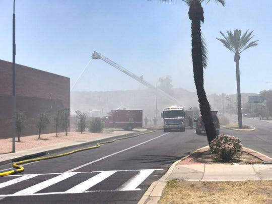 Phoenix Fire Department on the scene of a structure fire on Central Ave in south Phoenix on Monday, June 10, 2019.