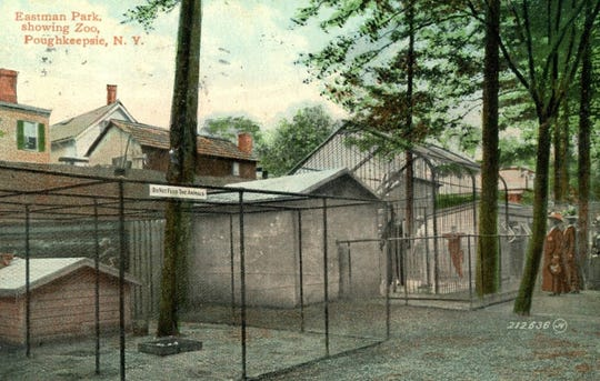 Once part of Eastman Park in the City of Poughkeepsie, this zoo stood along South Avenue and was created by business college founder and former city Mayor Harvey G. Eastman. The park also featured gardens, walking paths, and a pond.