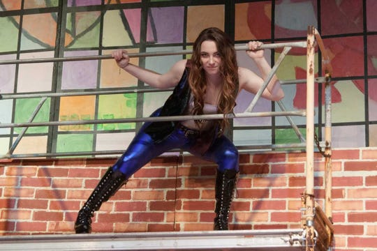 "Kendall O'Keefe rehearses a scene in production of ""Rent: School Edition"" hitting the DreamWrights main stage Thursday, June 13."