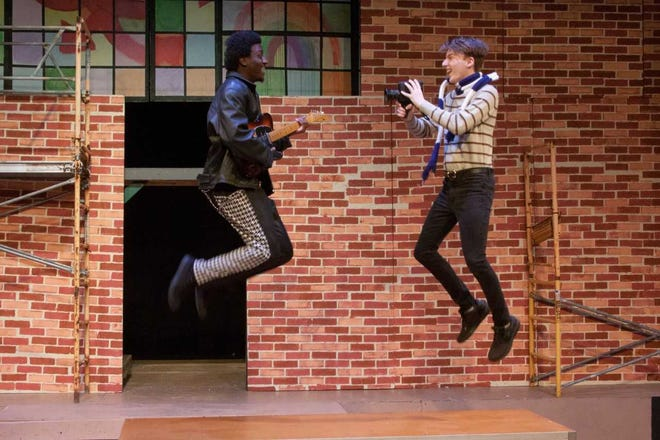 """Joseph Fagan and Drew Dillon rehearse a scene in production of """"Rent: School Edition"""" running June 13-23 at DreamWrights Center for Community Arts."""