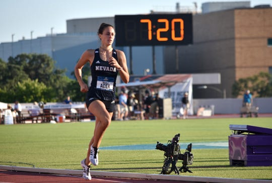 Nevada's Nicola Ader competed in three events at the NCAA track championships in Austin, Texas.
