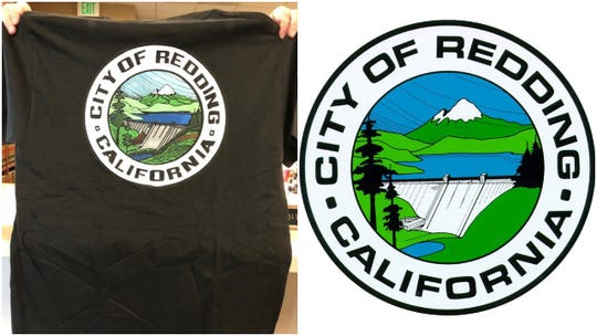 These two photos show the city of Redding's old seal (on the left) and the new seal (on the right).