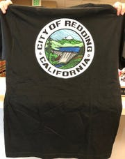 This T-shirt with the city of Redding's old seal prompted officials to warn residents about not letting anyone into their homes without city-issued identification.