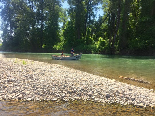 Lee Harrington and Mike Ferris float and fish on the North Santiam River between Greens Bridge and Jefferson in June of 2018.