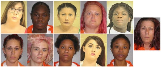 Eleven women were arrested Friday and charged with prostitution during an undercover sting operation by the Shreveport Police Department.