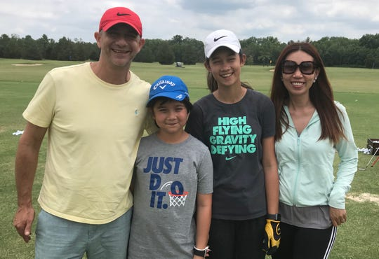 The Galitsky family (l-r: Gary, Benjamin, Eila, Wasana) of Thailand was to begin a summer journey in the states by watching Eila's in an AJGA tournament at Southern Trace. The family learned the event was cancelled up arrival in Shreveport.