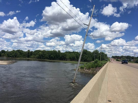 The banks of the Big Sioux River at the corner of Holly Blvd., and Sioux Blvd., have kept crews from starting a major construction project this summer.