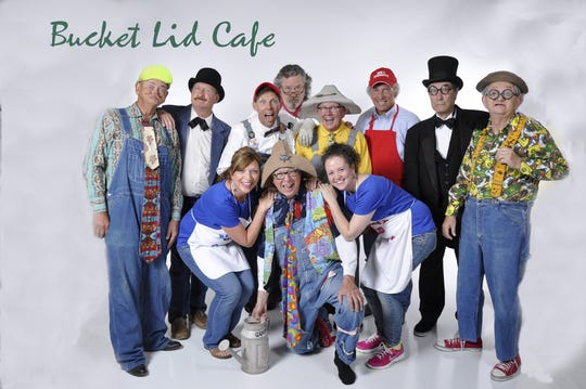 "A publicity photo shows Branson performers involved in a pilot episode for a proposed sitcom developed in the late 2010s, ""Bucket Lid Cafe."" Wayne Milnes (second from right) is shown in a top hat. It was one of Milnes' last roles, friends said. The show would have been a comedy based on the idea of Ozarks actors being filmed for a reality show."