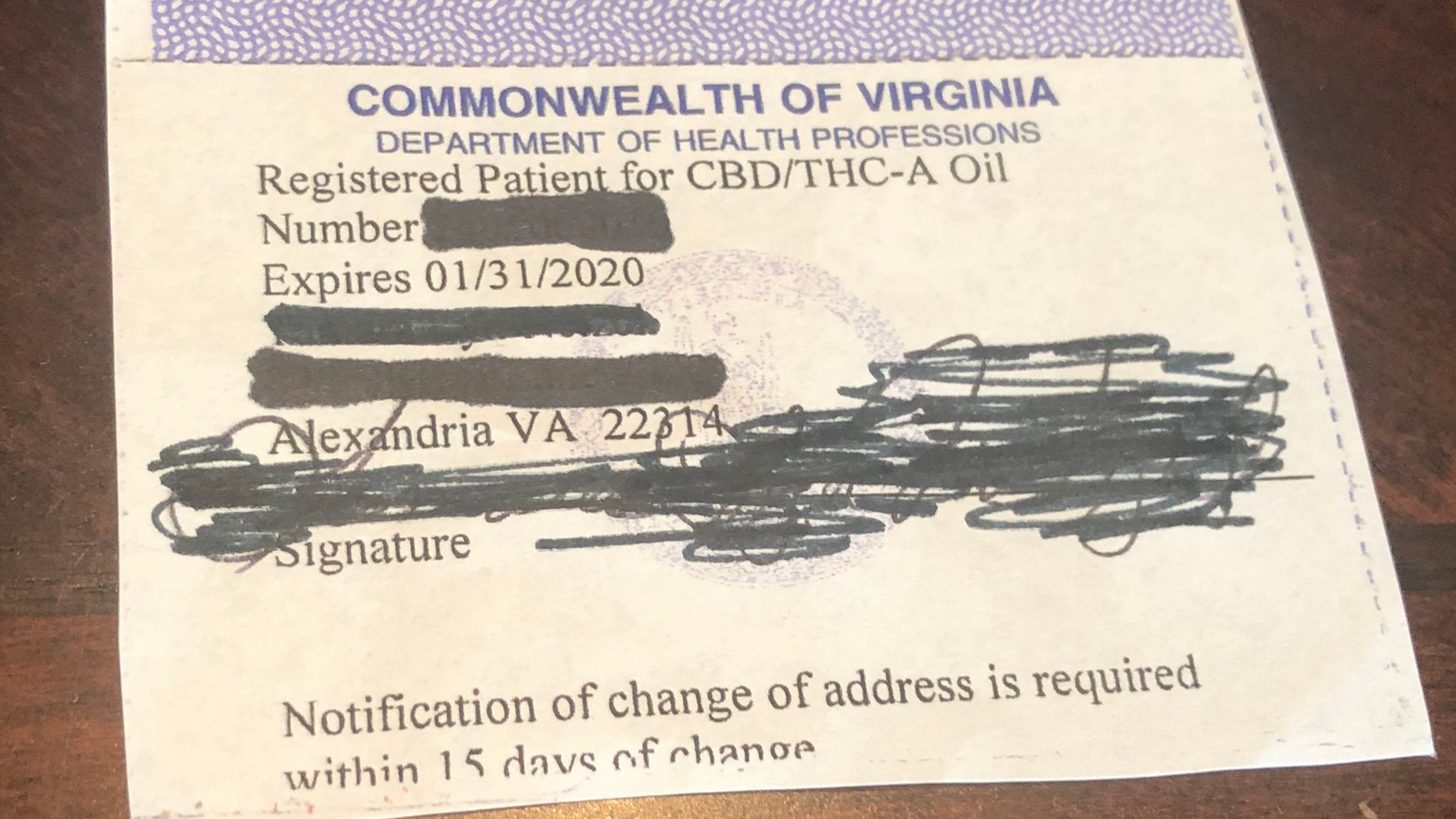Getting a medical marijuana card in Virginia