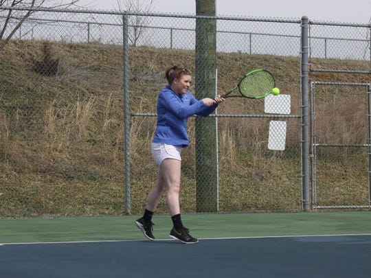 Ali Keister finished her tennis career at Fort Defiance with 100 wins, just the second player under coach John Edgecomb to reach that accomplishment.