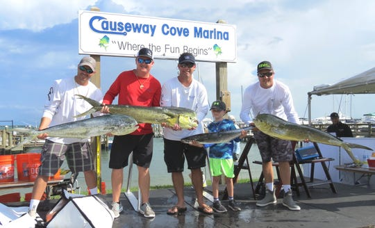 White's Tackle took second-place in the Dolphin division: Brandon Haynes, Richie Studer, Kadri Benton and Chris Langle.