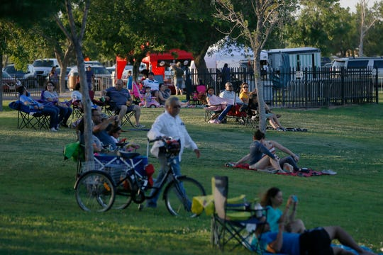People gather for the 36th season of Music Under the Stars Sunday, June 9, at Chamizal National Memorial in El Paso.