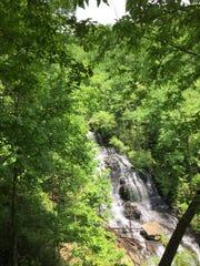 Isaqueena Falls in Oconee County