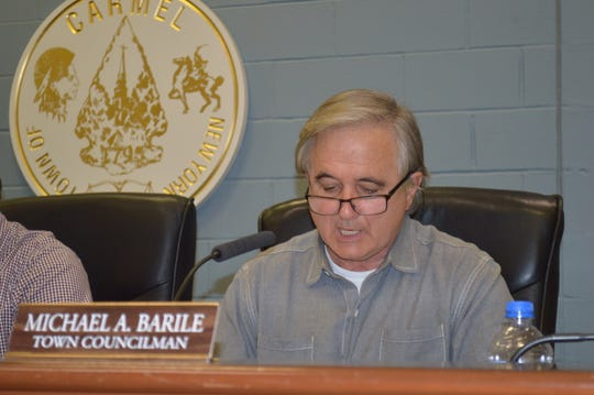 Carmel Town Board member Michael Barile has declined to state whether Blu restaurant uses the town sewer or has a septic system.