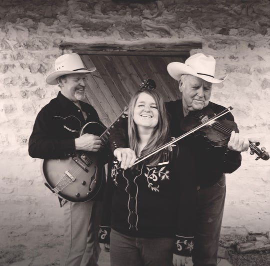 The original Gimbles trio circa 2005 with singer and pianist Emily, her father - guitarist and bassist Dick and her grandfather - legendary fiddle player Johnny Gimble.