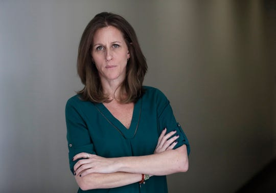 Kim Goldman poses for a portrait Friday, June 7, 2019, in Los Angeles. Goldman has continued to make the case publicly that it was O.J. Simpson who killed her brother and Simpson's ex-wife on a June night in 1994.