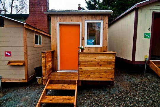"The Low Income Housing Institute has developed what they call 10 ""tiny house villages"" in Seattle, and one in Olympia."
