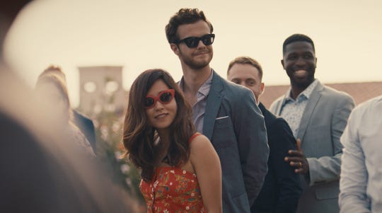 """Maya Erskine of """"PEN15"""" stars opposite Jack Quaid in """"Plus One,"""" which follows two friends who fall in love after attending a ton of weddings as each other's plus ones."""