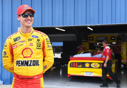Joey Logano won his third Cup Series race at Michigan International Speedway on Monday.