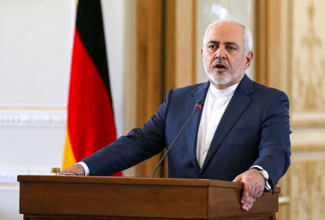 Iran's Foreign Minister Mohammad Javad Zarif gives a joint press conference with his German counterpart (unseen) in the capital Tehran on June 10, 2019. (Photo by ATTA KENARE / AFP)ATTA KENARE/AFP/Getty Images