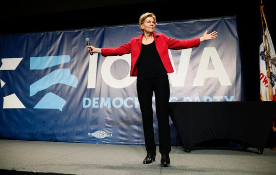 Sen. Elizabeth Warren, D-Mass., campaigns in Cedar Rapids, Iowa, on June 9, 2019.