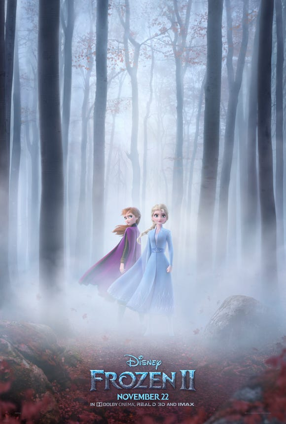 "The poster for ""Frozen 2"" was revealed ahead of a new trailer."
