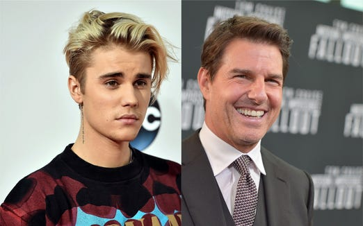 Justin Bieber and Tom Cruise