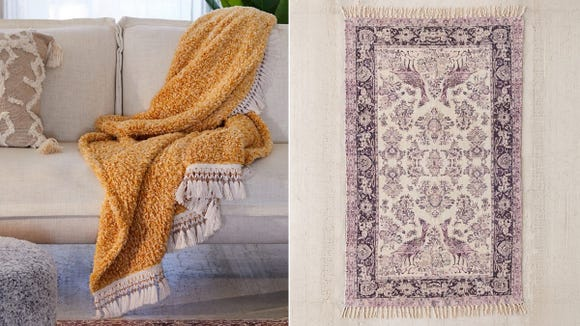 You can find awesome stuff like this throw and are rug for half off during Urban Outfitters' flash sale