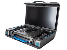 The GAEMS Guardian Pro XP Personal Gaming Environment is an all-in-one portable carrying case and play setup for consoles and some PCs, targeted at pro gamers, streaming content creators and travelers such as professional athletes.