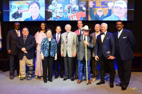 The 2019 Louisiana Sports Hall of Fame inductees in Natchitoches on Saturday.