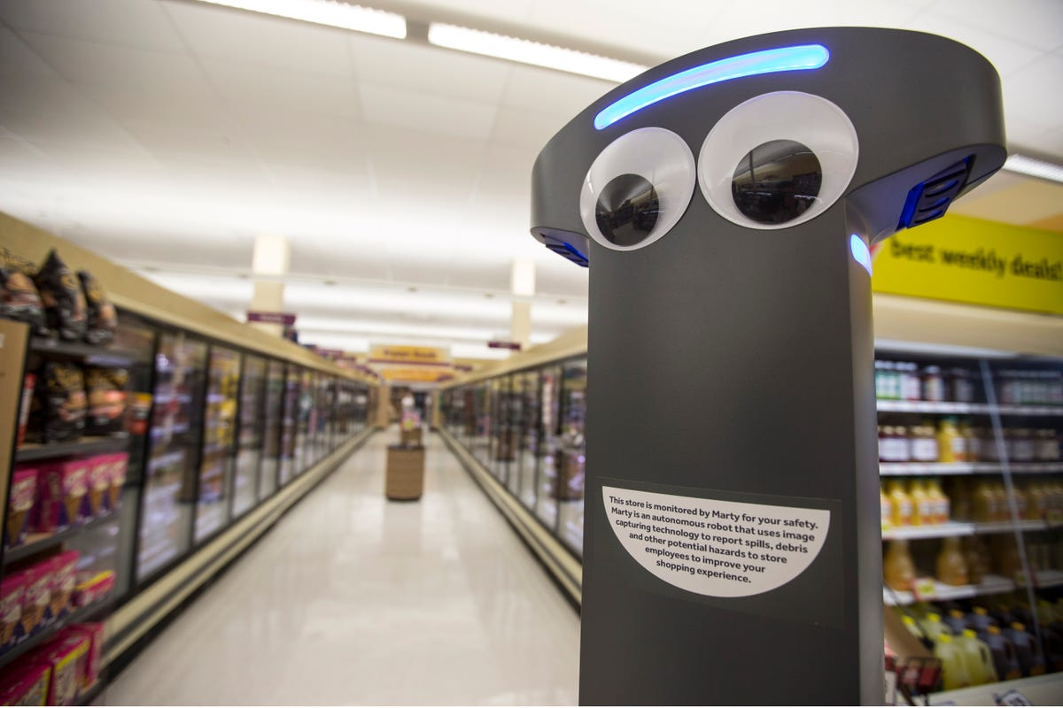 Marty the Robot is newest Stop & Shop employee, and here's
