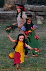 Children perform as Southern Plains Indians during rehearsal in Albany's Fort Griffin Fandangle last June.