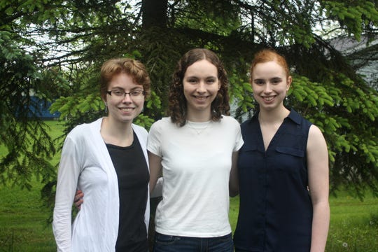 From left: Sisters Stephanie, Julia and Kristen Allen were all the valedictorian of the respective senior classes at Susquehanna Valley High School.