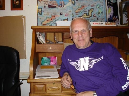 Bruce Swanson at his home office. The longtime North Kitsap coach has more hobbies than just sports.