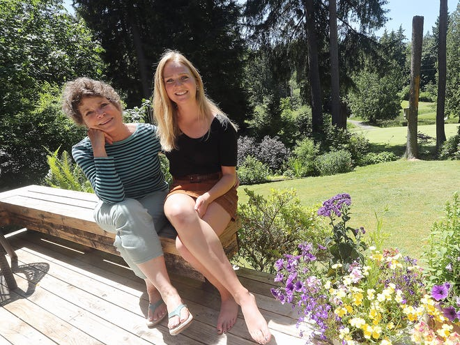 Barb McAllister and Danielle Bogardus at McAllister's Bainbridge home.