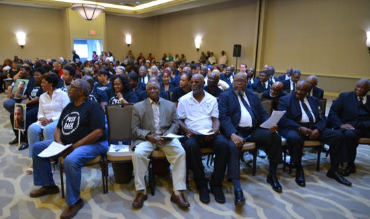 About 500 people packed a standing-room-only Hilton Melbourne Rialto Place ballroom during the Melbourne City Council meeting Tuesday night on renaming Airport Boulevard after Dr. Martin Luther King Jr.