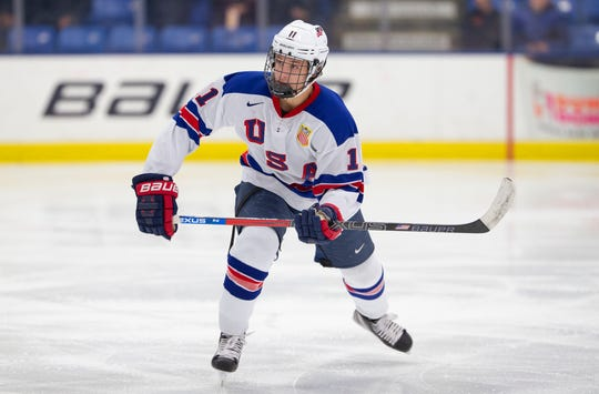 Trevor Zegras was a bit overshadowed by presumed No. 1 pick Jack Hughes and played some wing, but the Flyers see him as a center.