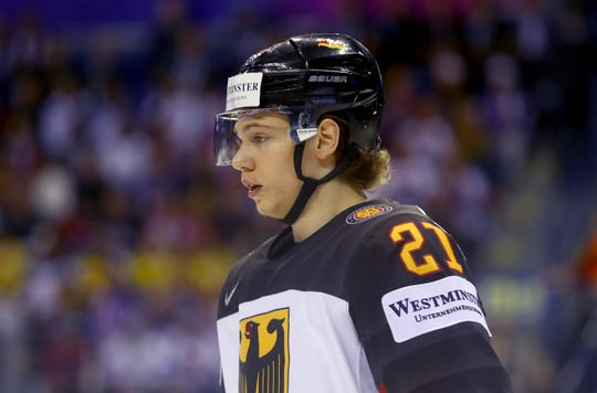 Moritz Seider played with the men in Germany's top league this season and on the national team in last month's World Championships.