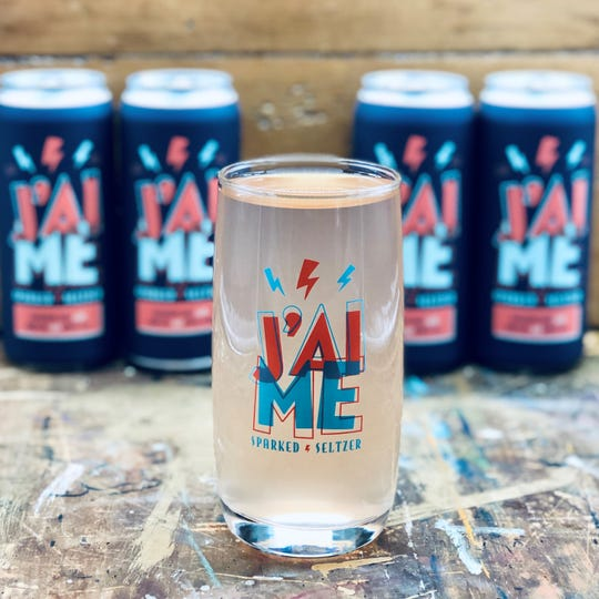 J'aime Sparked Seltzer from Forgotten Boardwalk is available on tap and in 16-  ounce cans.