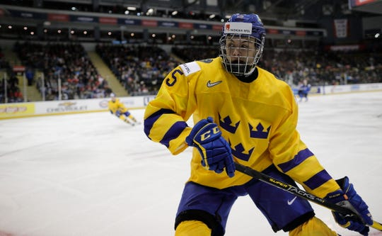 Philip Broberg had an assist in four games for Sweden at the World Junior Championship this season.
