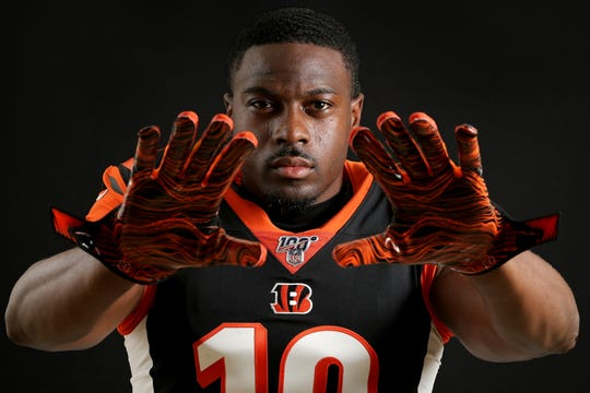 Cincinnati Bengals wide receiver A.J. Green (18) poses for a photo, Monday, June 10, 2019, at Paul Brown Stadium in Cincinnati.