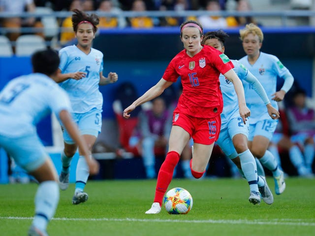 9a9dcd43d57 Wisconsin Badgers alumna Rose Lavelle scores twice in first World Cup soccer  game