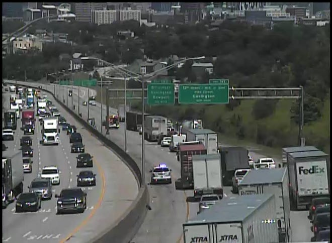 A crash is blocking northbound I-75/71 coming into Cincinnati Tuesday afternoon.