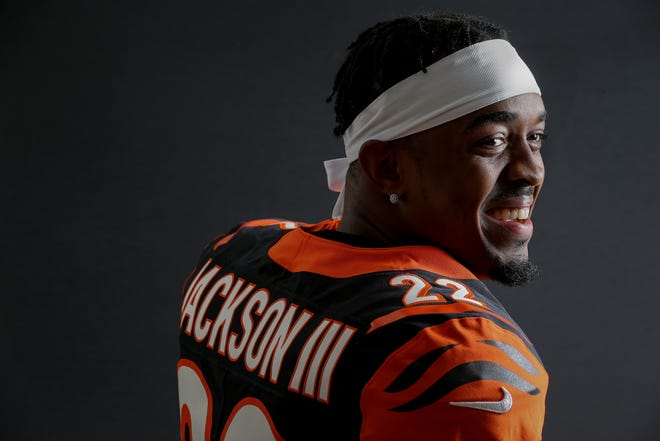 Cincinnati Bengals cornerback William Jackson III (22) poses for a photo, Monday, June 10, 2019, at Paul Brown Stadium in Cincinnati.