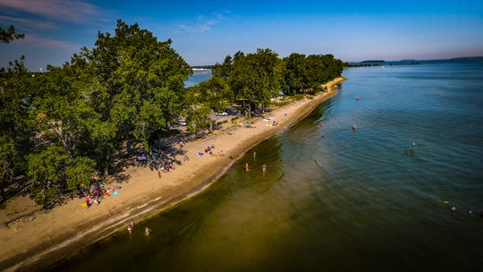 Indian Lake State Park has a man-made lake, two beaches, and space to boat, fish, and jet-ski.