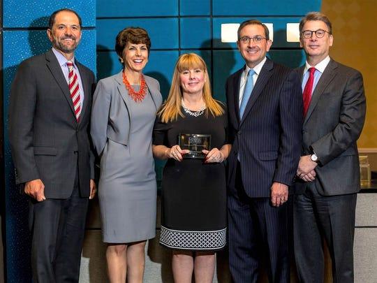 (Left to right)Frank Cannone, Gibbons PC; Lori Grifa, Archer & Greiner; Cyndi Bleier, Amboy Bank; Fred Giordano, K&L Gates; and Robert Bernstein, Greenberg Traurig, LLP.
